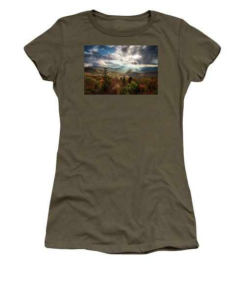 Blue Ridge Mountains Asheville Nc Scenic Autumn Landscape Photography Women's T-Shirt
