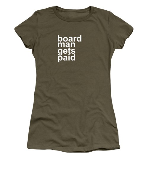 Board Man Gets Paid - Funny Rebound Basketball Premium T-shirt Women's T-Shirt