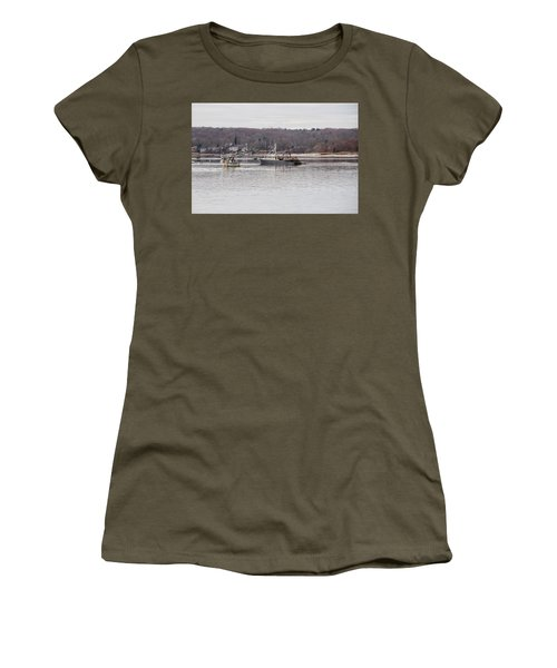Boats At Northport Harbor Women's T-Shirt