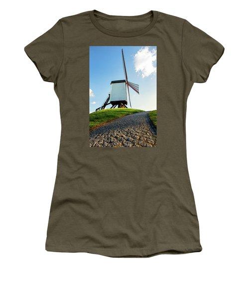 Bonne Chiere Windmill Bruges Belgium Women's T-Shirt