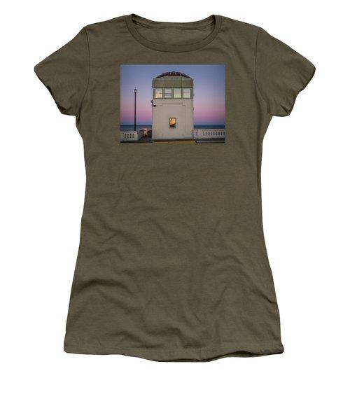 Women's T-Shirt featuring the photograph Bridge Tender's Tower by Steve Stanger