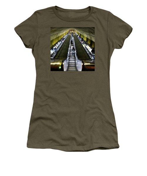Bright Lights, Tall Escalators Women's T-Shirt