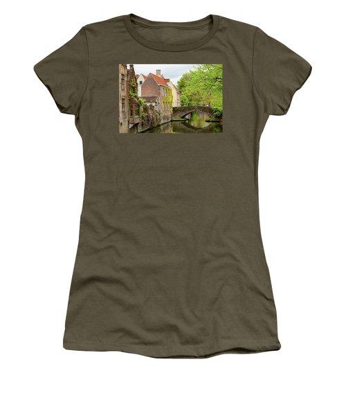 Bruges Footbridge Over Canal Women's T-Shirt