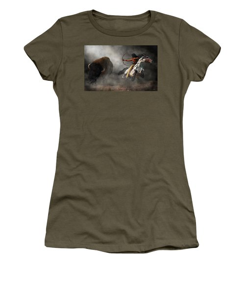 Buffalo Hunt Women's T-Shirt