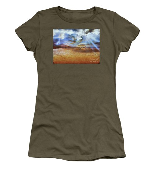Women's T-Shirt featuring the photograph Burning Sand  by Leigh Kemp