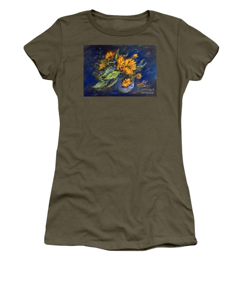 Women's T-Shirt featuring the painting Calendula by Ryn Shell