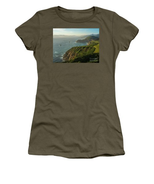 California Coast Highway 1 Golden Light Women's T-Shirt