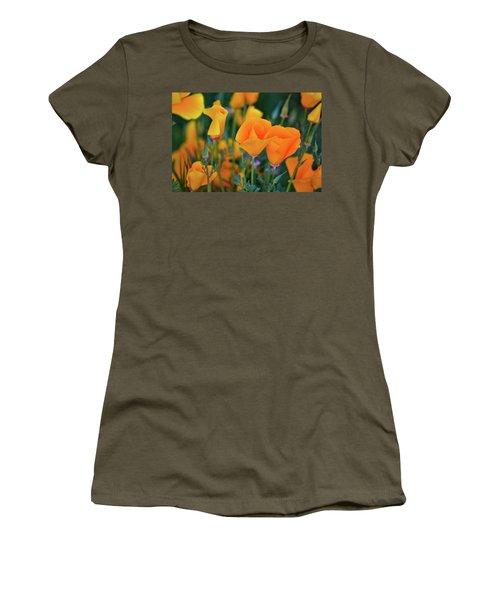 California Poppies Lake Elsinore Women's T-Shirt