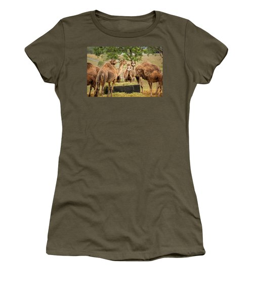 Women's T-Shirt featuring the photograph Camels Out Amongst Nature by Rob D Imagery