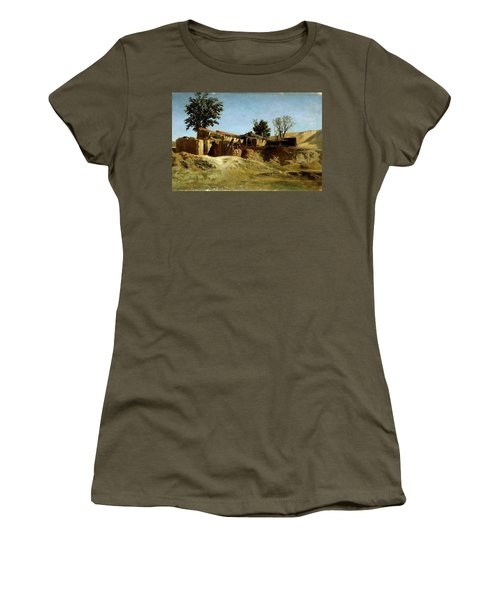 Carlos De Haes / 'tile Factories On Principe Pio Hill', Ca. 1872, Spanish School. Women's T-Shirt