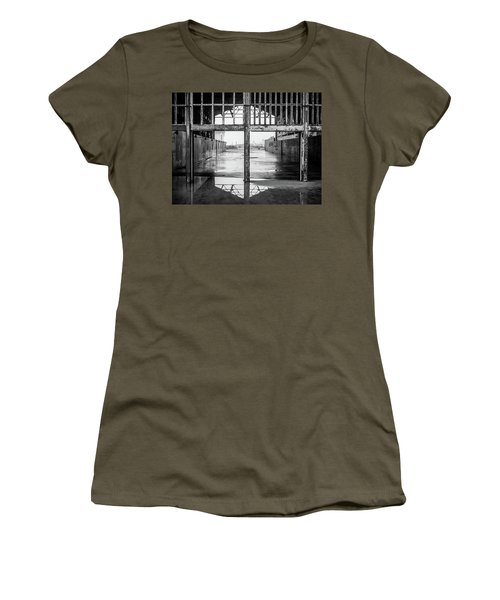 Women's T-Shirt featuring the photograph Casino Reflection by Steve Stanger