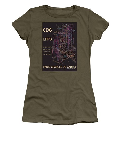 Cdg Paris Airport Women's T-Shirt
