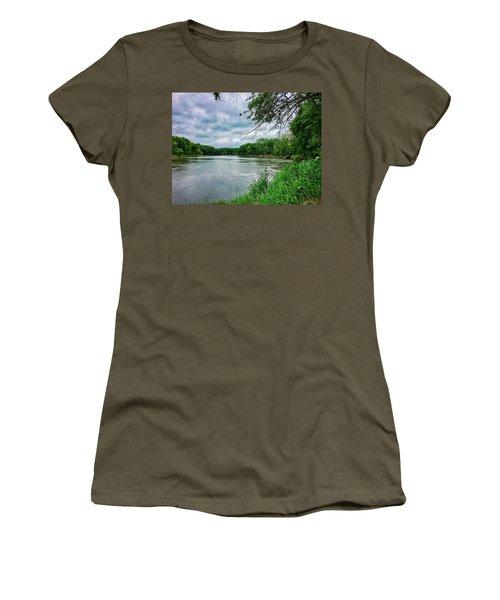 Women's T-Shirt featuring the photograph Cedar Bend Iowa by Dan Miller