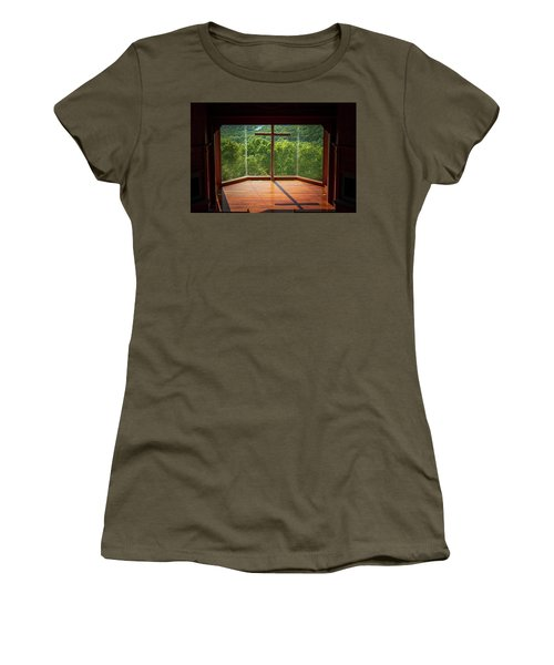 Women's T-Shirt featuring the photograph Chapel Interior Top Of The Rock by Allin Sorenson
