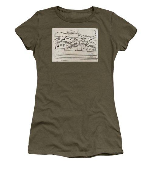 Charcoal Houses Sketch Women's T-Shirt