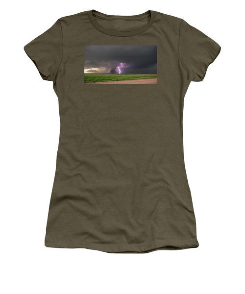 Women's T-Shirt featuring the photograph Chasing Naders In Nebraska 017 by Dale Kaminski