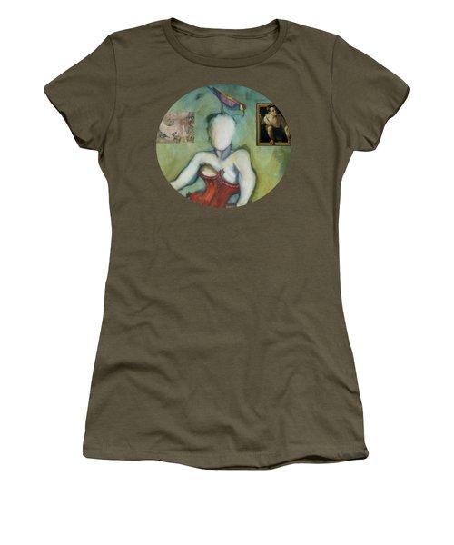 Chin Chin With An Imaginary Bird On Her Head Women's T-Shirt