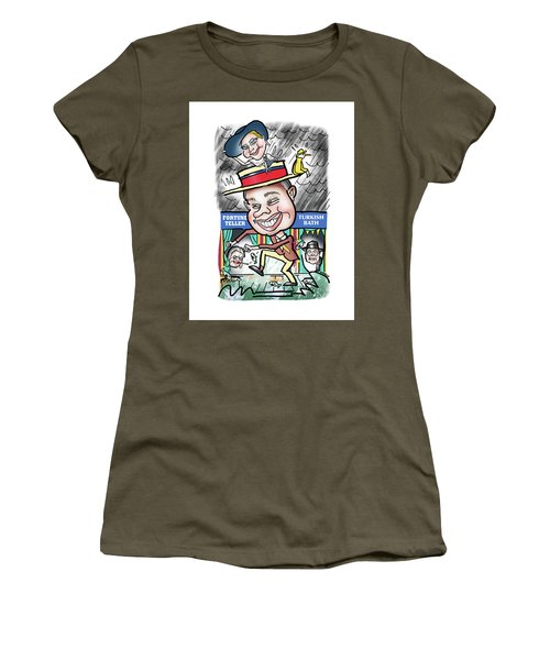 Women's T-Shirt featuring the digital art Chris And Mia by Mark Armstrong