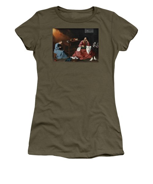 Christ And The Virgin In The House At Nazareth, 1640 Women's T-Shirt