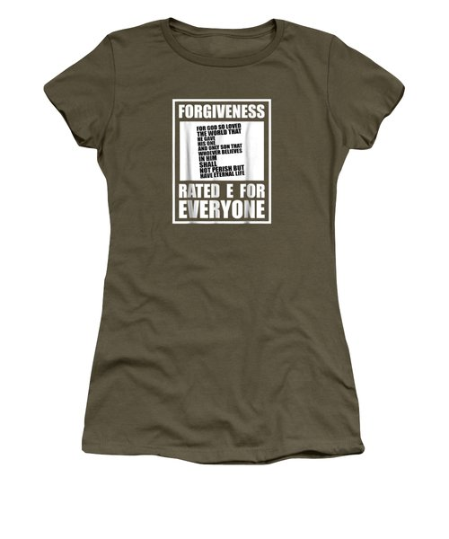 Christian Religious Tshirt Forgiveness Rated E For Everyone Women's T-Shirt