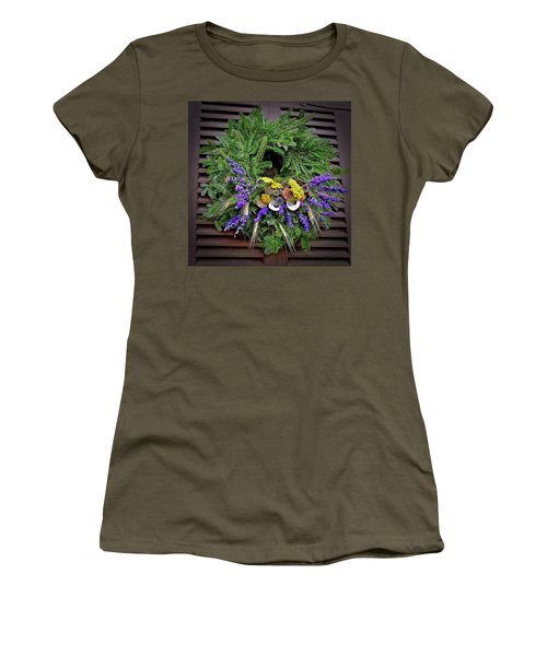 Women's T-Shirt (Athletic Fit) featuring the photograph Christmas Blues by Don Moore