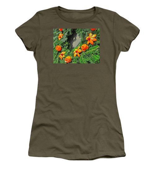 Women's T-Shirt (Athletic Fit) featuring the photograph Christmas Citrus by Don Moore