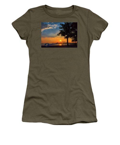 Cleveland Sign Sunrise Women's T-Shirt