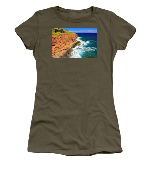 Cliff On Pacific Ocean Women's T-Shirt