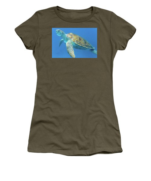 Close Up Sea Turtle Women's T-Shirt