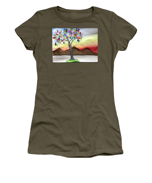 Colored Tree Women's T-Shirt