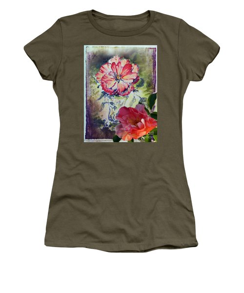 Women's T-Shirt featuring the mixed media Copic Marker Rose by Ryn Shell