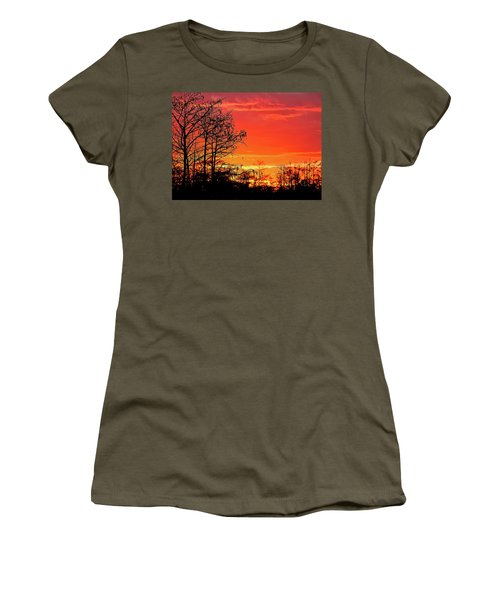 Cypress Swamp Sunset 2 Women's T-Shirt