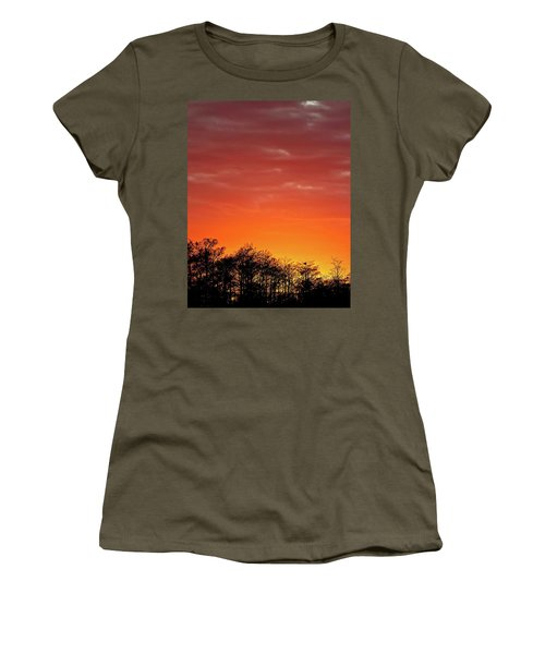 Cypress Swamp Sunset 4 Women's T-Shirt