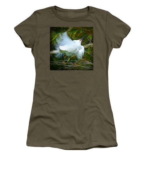 Dancing Egret Women's T-Shirt