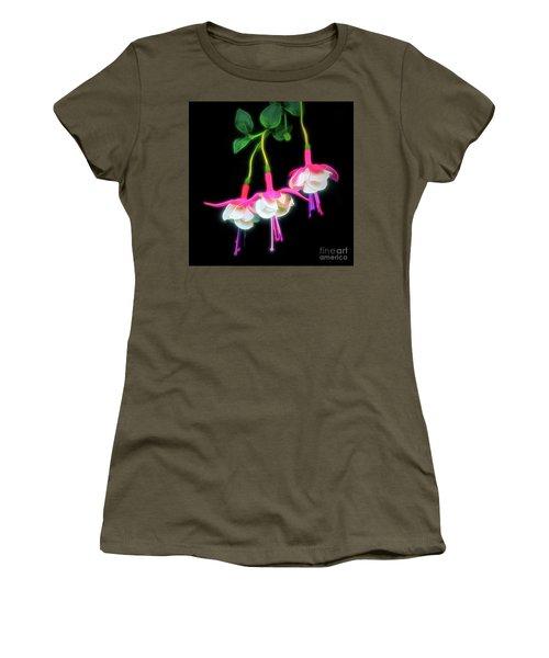 Dancing Fuchsia Abstract Women's T-Shirt