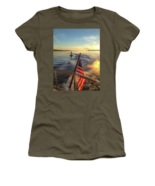 Women's T-Shirt (Athletic Fit) featuring the photograph Dawn On The Sassafras River by Mark Duehmig