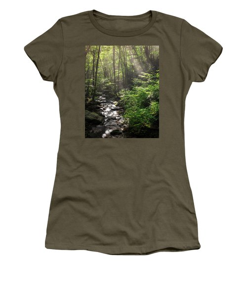 Deep In The Forrest - Sun Rays Women's T-Shirt