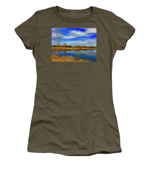 Women's T-Shirt featuring the photograph Depoorter Lake by Dan Miller