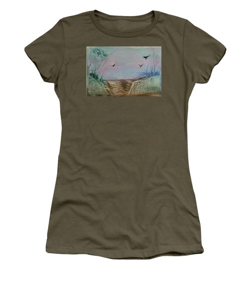 Dirt Road Through A Valley Women's T-Shirt