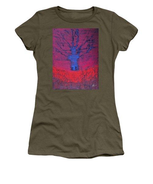 Disappearing Tree Original Painting Women's T-Shirt