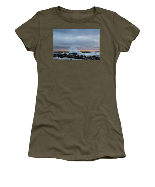 Women's T-Shirt featuring the photograph Dramatic Beginnings. by Jeff Sinon