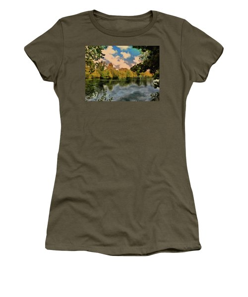 Women's T-Shirt featuring the photograph Drawn To Water by Leigh Kemp