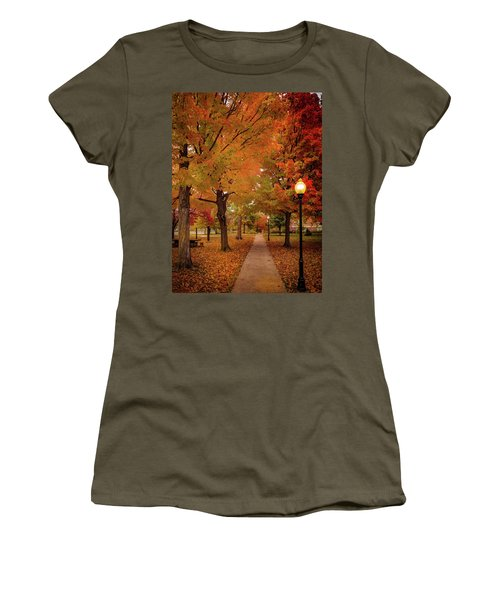 Women's T-Shirt featuring the photograph Drury Autumn by Allin Sorenson