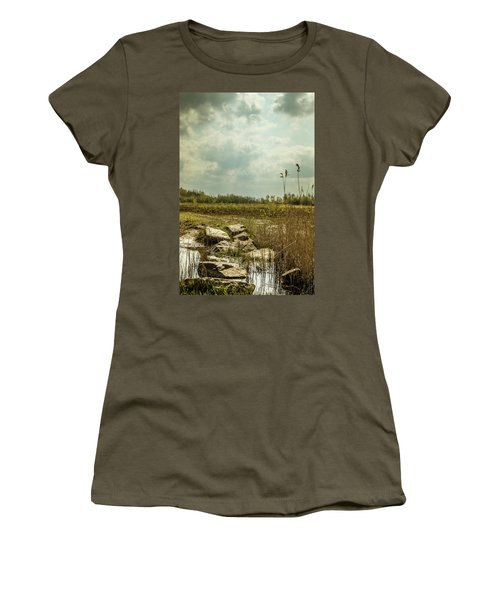 Women's T-Shirt featuring the photograph Dutch Landscape. by Anjo Ten Kate