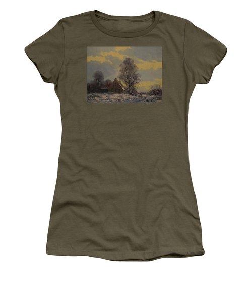 Dutch Snow Landscape Women's T-Shirt