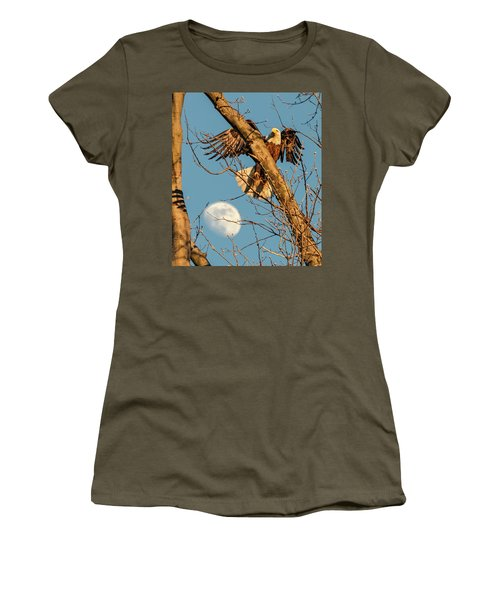 Eagle And Moon  Women's T-Shirt