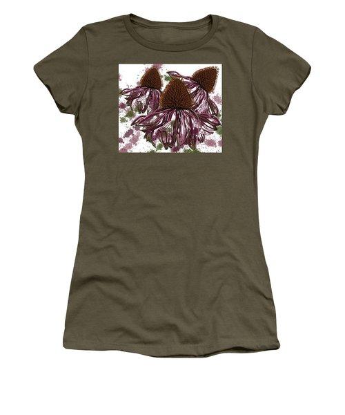 Echinacea Flowers Line Women's T-Shirt