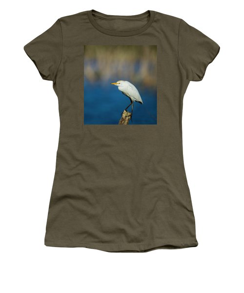 Egret On A Stick Women's T-Shirt