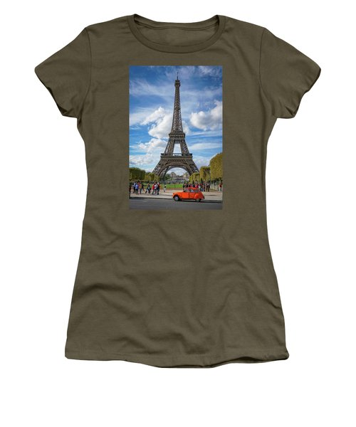 Women's T-Shirt featuring the photograph Eiffel Tower by Jim Mathis