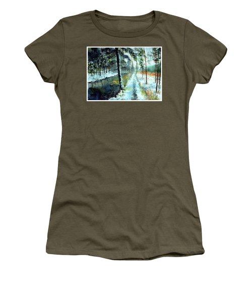 Emerald Winter Scene Women's T-Shirt